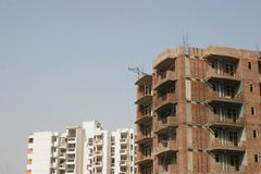 Bouw nieuwe huizen stock fotografie
