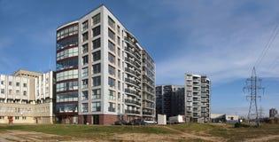 Bouw nieuwe stad Vilnius Royalty-vrije Stock Foto
