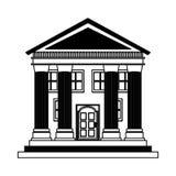 Bouw roman kolommenpictogram vector illustratie