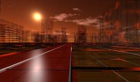 Bouw stad stock illustratie
