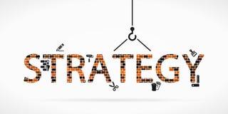 Bouw strategie royalty-vrije illustratie