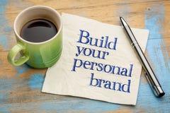 Bouw uw persoonlijke merkraad royalty-vrije stock foto