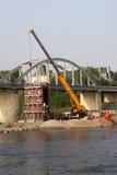Bouw van brug Royalty-vrije Stock Afbeeldingen