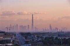 Bouw van Burj Doubai Royalty-vrije Stock Afbeeldingen