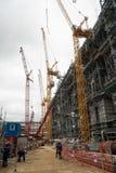 Bouw van chemische fabriek Tobolsk Rusland stock foto