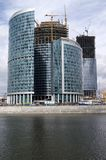 Bouw van commercieel van Moskou centrum (3) Stock Foto's