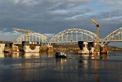 Bouw van de brug Stock Foto
