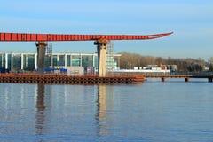 Bouw van de brug royalty-vrije stock fotografie