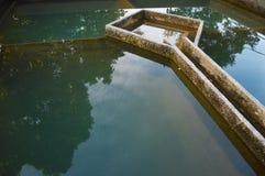 Bouw van de filtratie van het drainagewater Stock Foto's