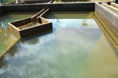 Bouw van de filtratie van het drainagewater Royalty-vrije Stock Foto