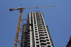 Bouw van de nieuwe bouw Royalty-vrije Stock Afbeelding