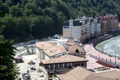 Bouw van de nieuwe Olympische skifaciliteit royalty-vrije stock afbeelding