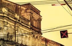 Bouw van de Phuket de oude stad Stock Foto's