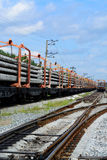 Bouw van de spoorweg Stock Foto's