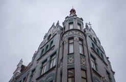 Bouw van de Tallin de Oude Stad Stock Fotografie