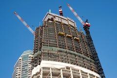 Bouw van de Wilshire de Grote Toren in Los Angeles stock foto's