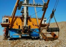 Bouw van dragline Stock Foto