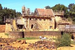 Bouw van een historisch kasteel Royalty-vrije Stock Fotografie