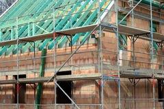 Ruwe bouw van een familiehuis Stock Foto