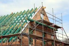 Ruwe bouw van een familiehuis Stock Afbeelding