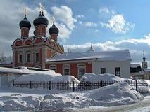 Bouw van een klooster. Stock Foto's