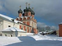 Bouw van een klooster. Royalty-vrije Stock Foto's