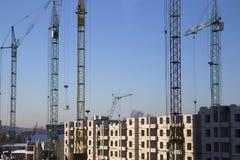 Bouw van een met meerdere verdiepingen gebouw Stock Foto
