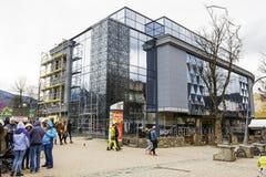 Bouw van een modern winkelcomplex, Zakopane Royalty-vrije Stock Afbeeldingen