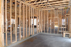 Bouw van een Nieuw Huis die worden gebouwd stock fotografie