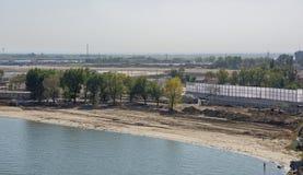 Bouw van een nieuw strand voor de Wereldbeker van FIFA van 2018 Nieuwe st Royalty-vrije Stock Afbeeldingen