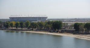 Bouw van een nieuw strand voor de Wereldbeker van FIFA van 2018 Nieuwe sta Royalty-vrije Stock Afbeeldingen