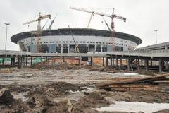 Bouw van een stadion voor de Wereldbeker van 2018 Stock Fotografie