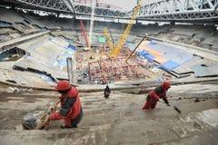 Bouw van een stadion voor de Wereldbeker van 2018 Stock Foto