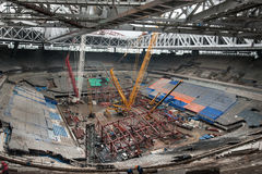 Bouw van een stadion voor de Wereldbeker van 2018 Royalty-vrije Stock Afbeeldingen