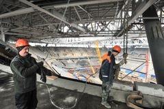 Bouw van een stadion voor de Wereldbeker van 2018 Stock Afbeelding