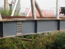 Bouw van een superieure brug van de staalboog stock foto's