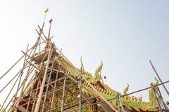 Bouw van een tempelgebouw Royalty-vrije Stock Foto's
