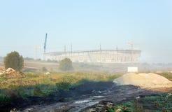 Bouw van een voetbalstadion in Lviv de Oekraïne Stock Afbeeldingen