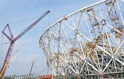 Bouw van een voetbalstadion voor de Wereldbeker 2018, Rusland, Volgograd Royalty-vrije Stock Afbeelding