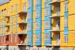 Bouw van flatgebouw Stock Afbeeldingen