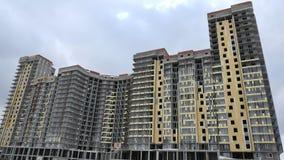 Bouw van flatgebouwen Stock Foto