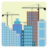 Bouw van gebouwen. Stock Afbeeldingen