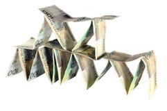 Bouw van geld Stock Foto's