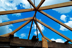 Bouw van het dak Royalty-vrije Stock Afbeeldingen