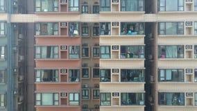 Bouw van het de flathuis van het stadsleven de vlakke Stock Fotografie