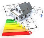 Bouw van het energie de efficiënte huis Royalty-vrije Stock Afbeeldingen