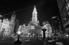 Bouw van het het oriëntatiepunt de historische Stadhuis van Philadelphia stock foto