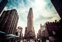 Bouw van het Ijzer van de Stad van New York de Vlakke Stock Foto's