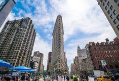Bouw van het Ijzer van de Stad van New York de Vlakke Royalty-vrije Stock Afbeeldingen