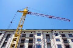 Bouw van het nieuwe gebouw stock foto